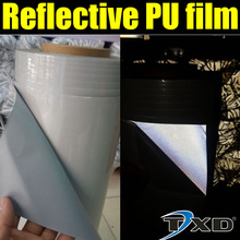 50X100CM Reflective PU Vinyl for heat transfer,T-shirt heat press film by free shipping