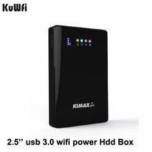 USB 3.0 2.5'' Inch To Sata Power Bank 4000mh External HDD Case 2TB Reading Capaci 00mbps Wifi Repeater Wifi extender storage bas(China)