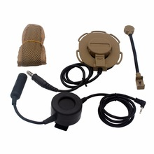 3PCS HD03 Z Tactical Bowman Elite II Headset with Waterproof PTT for Motorola Talkabout Cobra 1 Pin Radio TLKR T3 T5 T6 T7 T6200