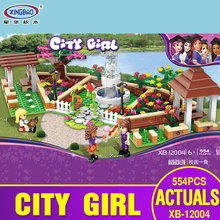 XINGBAO 12004 554Pcs City Girl Series The Corner of the School Set Building Blocks Bricks Educational Funny Toys Gifts for Kids(China)