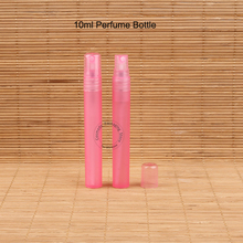 50pcs/Lot Empty 10ml Perfume Bottle Small Spray Women Cosmetic Pink Mist Parfum Pot Atomizer Refillable 1/3 OZ Plastic Packaging