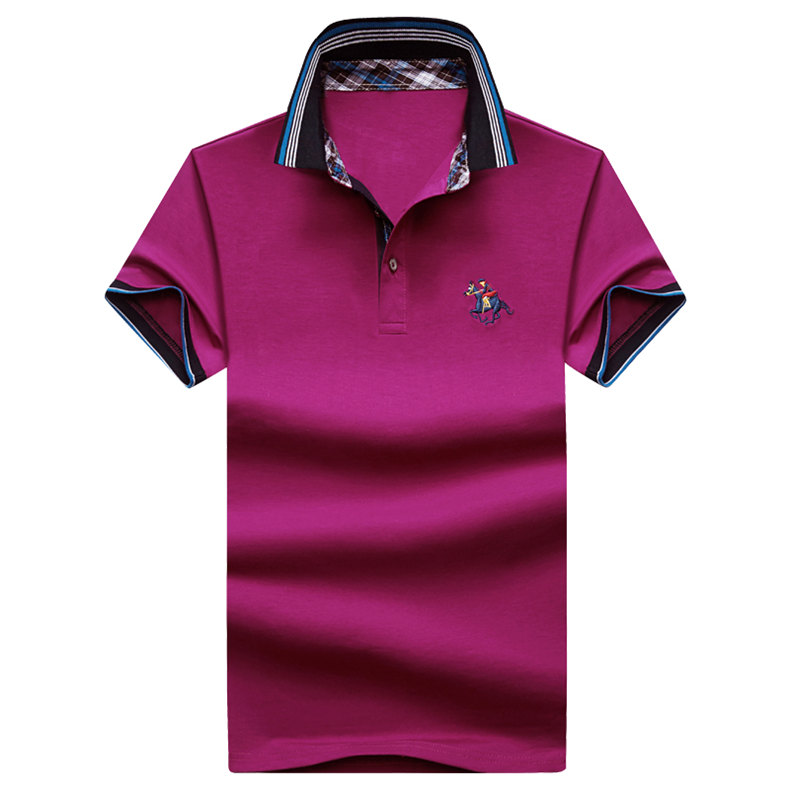 9Color Horse men quality cotton summer brand short golf riding man s male clothing 4XL large size Muls 2017 new arrival-06