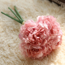 1 Bouquet (5heads) Artificial Peony Bouquet Elegant Color Flower Wedding Supplies Living Room Decorative Flower Party Decor P15(China)
