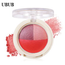 UBUB 3 Colors Baked Roast Glitter Eyeshadow Metallic Nude Smoky Eye Shadow Waterproof Natural Easy to Wear Makeup Palette(China)