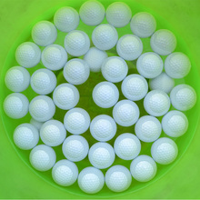 100 pieces Water range brand practice golf balls pro floating white light floating golf balls practice golf ball(China)