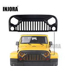 INJORA Black Air Inlet Grille Front Face for 1/10 RC Rock Crawler Axial SCX10 RC4WD D90 Jeep Wrangler Rubicon Body Shell(China)