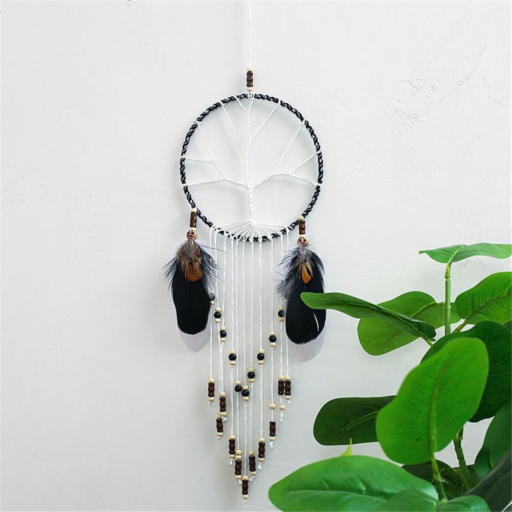 Attrape rêve arbre de vie dreamcatcher culture amérindienne capteur de rêve indien cauchemars mauvais rêve décoration murale et d'intérieur racine protection sommeil calme