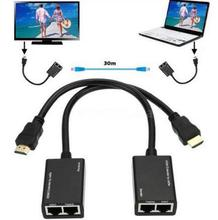 Hot 1080p 3D HDMI Over RJ45 CAT5e CAT6 UTP LAN Ethernet Balun Extender Repeater  for  DTS digital/Dolby Digital