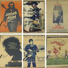 Music theme movie poster The Boat That Rocked /Inside Llewyn Davis / Searching for Sugar Man / Kraft Poster/Wall sticker