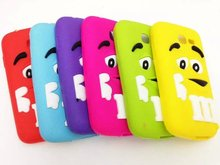 3D M&M's Fragrance Chocolate Rainbow Beans Soft Silicone Case For Samsung Galaxy Star Pro S7262 S7260 GT-S7262 Cover phone cases