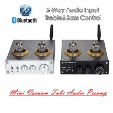 2018 Latest Nobsound Bluetooth 4.0 HiFi Vacuum 6J1 Tube Amplifier Stereo Tube Preamplifier With Treble Bass Tone Control(China)