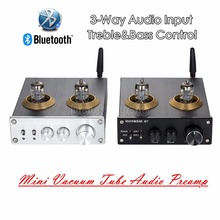 Buy 2018 Latest Nobsound Bluetooth HiFi Vacuum 6J1 Tube Preamplifier Stereo PreAmp Treble Bass Tone Control Tube Amplifier for $65.69 in AliExpress store