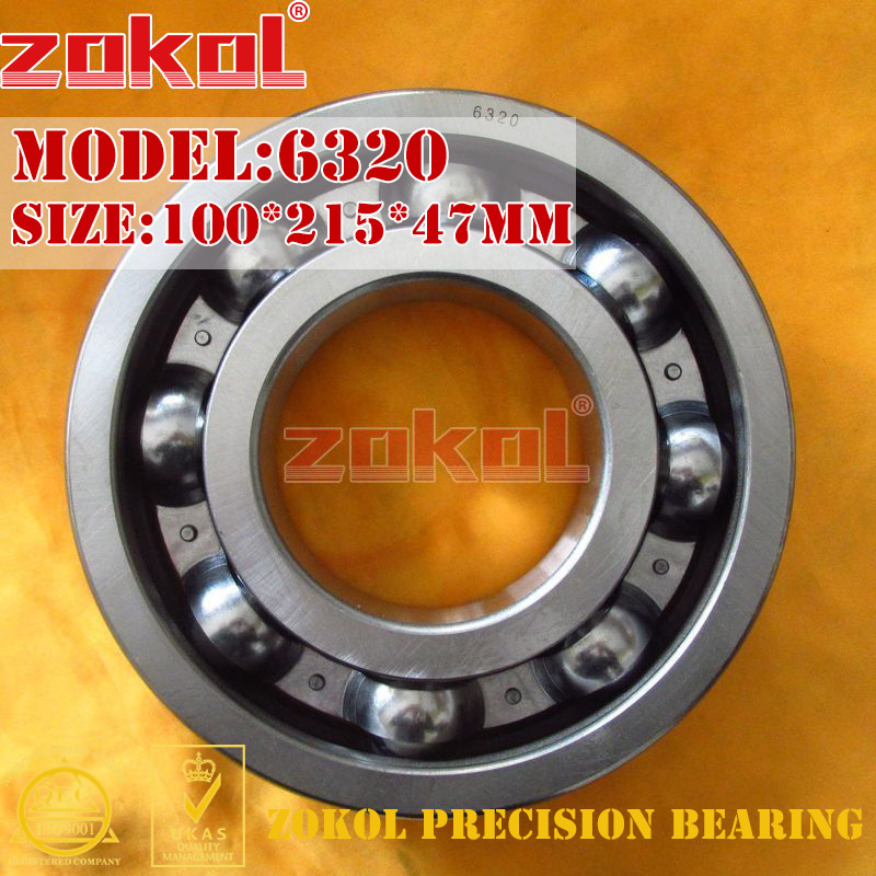 ZOKOL bearing 6320 320 Deep Groove ball bearing 100*215*47mm<br>