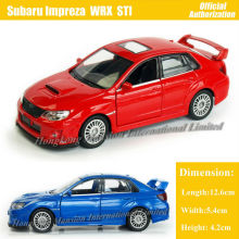1:36 Scale Diecast Alloy Metal Car Model For SUBARU Impreza WRX STI Collection Model Pull Back Toys Car - Red / Blue / White