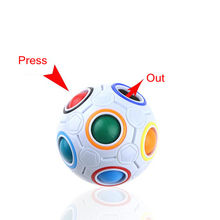 Magic ball shaped magic soccer creative children's educational toys rainbow ball rainbow press Rubik's Cube colorful hole puzzle(China)