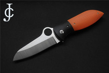 CJ Good quality C184 folding knife VG10 blade G10+steel Handle outdoor hunting Camping Pocket fruit Knife EDC tool wholesale(China)