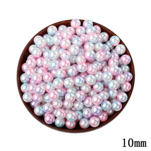 10mm Shell Mixed Color Round Beads 50pcs/lot Wholesale European No Hole Beads For Kids DIY Jewelry Making Wedding Decorations