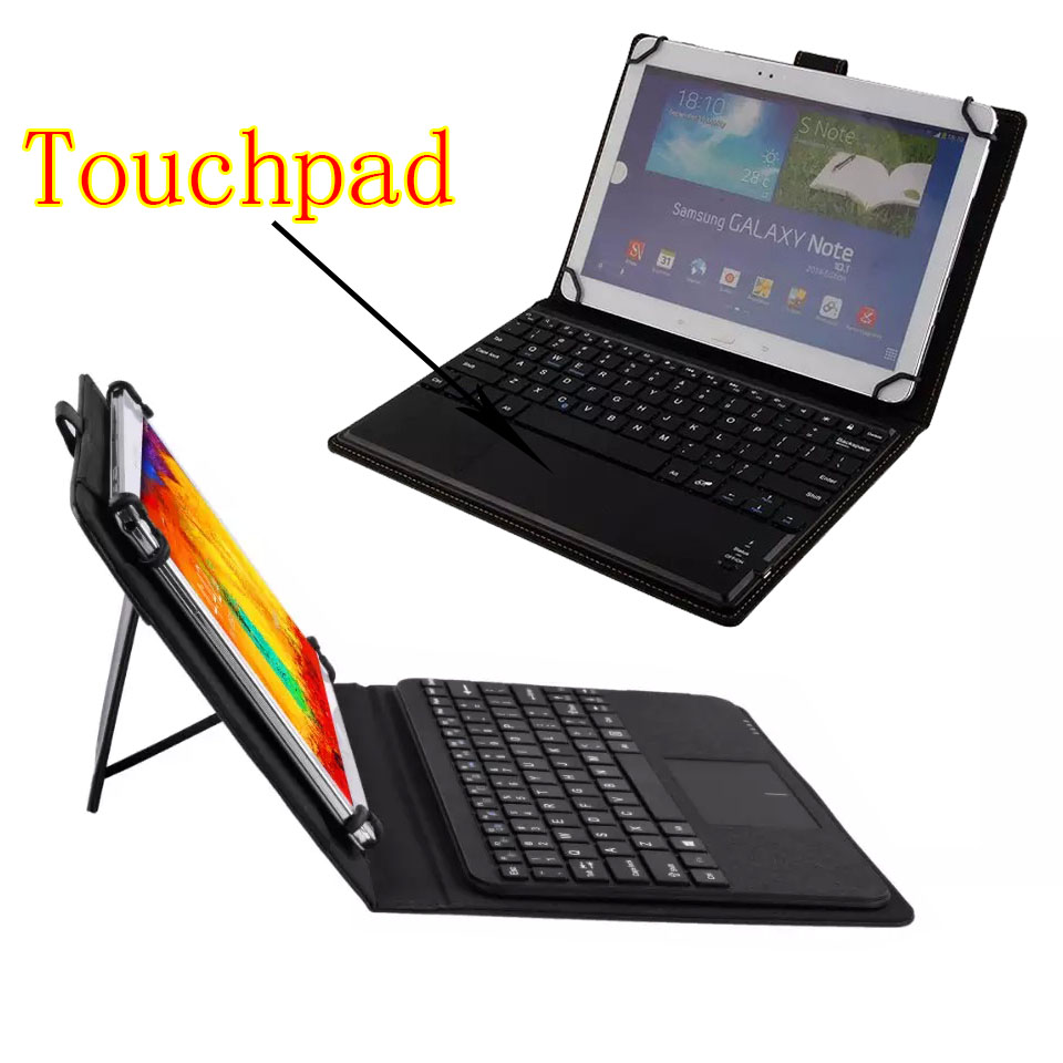 3in1 Universal Dechatable Bluetooth Keyboard w/ Touchpad &amp; PU Leather Case Cover For Dell Venue 10 Pro 5000 5055 <br>