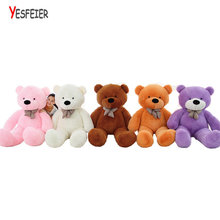 On Sale 1 piece 80cm-120cm bear Plush toys teddy bear big embrace bear doll lovers/christmas gifts birthday gift baby(China)
