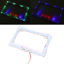 Universal Multi-color Flash Motorcycle LED 12V License Plate Frame Cover for Honda Yamaha Suzuki Harley Motocross License Plates