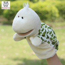 Children Hand Puppet kids doll baby infant plush Stuffed Toy Turtle  big mouth Puppets toys Christmas birthday gift