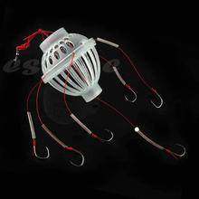 10Pcs/Lot Fishing Tackle Sea Fishing Box Hook Monsters with Six Strong Fishing Hooks Hot Sale(China)