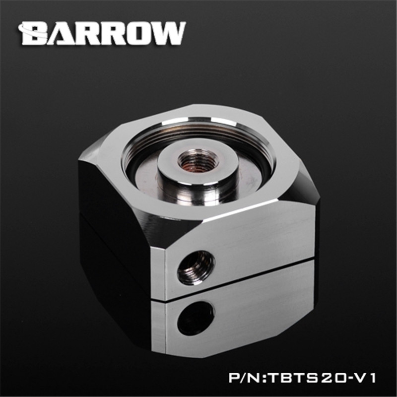 Barrow Brass Chrome Plated DDC Pump Top Cover -Can Connect The Water Tank TBTS20-V1-G<br>
