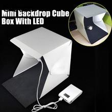 Gizcam 41cm*39.5cm*41cm Folding LED Diffuser Light Tent Photography Studio Soft Box Cube Backdrops Tabletop Photo Studio kits