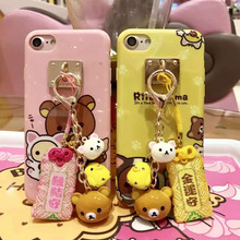 Rilakkuma Printed Case for iPhone X 8 7 6 6s plus Soft IMD TPU Gel Back Case Funda Cover with Bell and Lucky Bag(China)