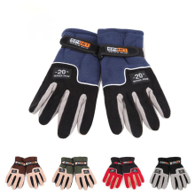 Outdoor winter Cycling Gloves Full Finger Snow Snowboard Ski Gloves Riding  Fleece Windproof Warm Gloves D1307HY