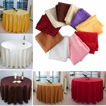 1M Round Tablecloth Table Cover Elegant Flower Pattern Wedding Party Banquet