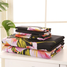 7 colors 4pcs Bedding Set 3D Printed Queen King Size Fitted Sheet Bed Cover 2 Pillowcases Bedclothes Modern Home Textiles linens(China)