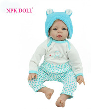 "NPKDOLL Reborn Baby Dolls 22"" Handmade Realistic Soft Silicone Newborn Babies Doll Toy Great Gift For Children(China)"