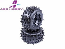 HPI RACING/KM HPI BAJA 5B 5T 5SC LOSI TDBX FS racing MCD 1/5 gas rc baja spare parts NEW PRODUCT 5B new knobby nail tyres(China)