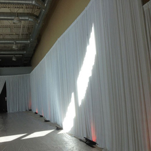 4x6m ice silk white color wedding drape curtain pleated wedding backdrop curtain drapery ivory stage backgroud decoration