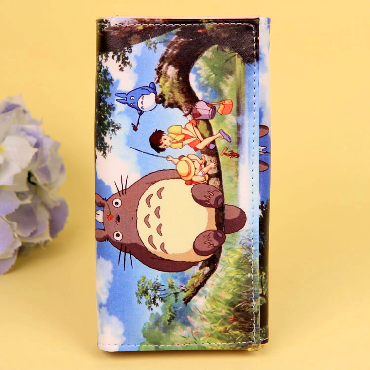 Cartoon My Neighbor Totoro Women Wallets PU Leather Students Wallet Cards Holder Women's Clutch Hasp Coin Purse Money Bags 7