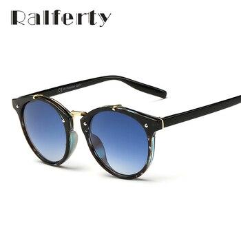 Ralferty Senhoras Gradiente Óculos de Sol Do Vintage Óculos Femininos Óculos de sol Óculos de Desporto Ao Ar Livre uv400 óculos de Sol Das Mulheres Designer De Marca Oculos 1610