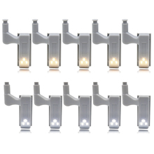 10pcs 0.25W Hinge LED Night Light Lamp Kitchen Bedroom Living Room Cabinet Cupboard Closet Wardrobe Lighting Home Decoration(China)