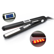 Ultrasonic & Infrared Hair Care Iron Recovers the damaged hair Hair Treament Styler Cold Iron Hair Care Treatment(China)
