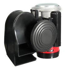 139db Black Snail Compact Dual Air Horn for Car Vehicle Motorcycle Yacht Boat SUV Bike 12V(China)
