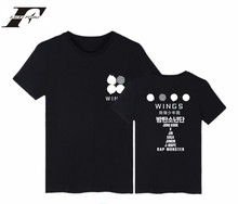 Buy LUCKYFRIDAYF BTS Kpop Bangtan Boys T Shirt 2th Album WINGS Short Sleeve Cotton Tshirt Plus Size Harajuku Women T Shirt Camisas for $6.93 in AliExpress store