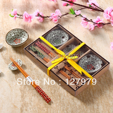 Chinese style ceramic cutlery sets Japanese style sushi set and dishes with gift box high-end tableware(China)