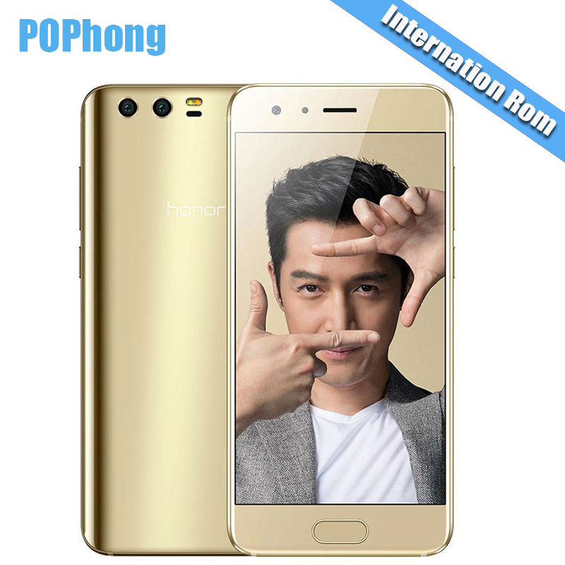 International Firmware Huawei Honor 9 6GB RAM 128GB ROM Octa Core Kirin 960 Cell Phone 5.15 '' LTPS Screen Android 20.MP+12.0MP(China (Mainland))