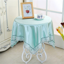 [WIT] 85*85cm Solid Table Cloth Rectangular Lace Table Clothes The Universal Cover Cloth European Dinning Table Cloth Lace