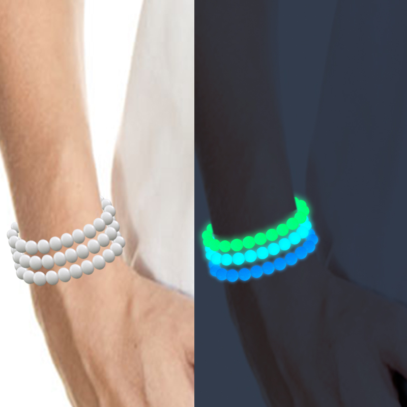Luminous Pearl Glow Light Bracelet Natural Stone Beads Braslet Antistress Magic Toy For Men Women Cuff Wristband Party DIY Gift