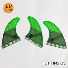 Surfing Paddling Future Fins G5 Honeycomb Fiberglass Fins Surfboard Fin Pure Color Fins 4 Colors Available 3pc per set Quilhas(China)