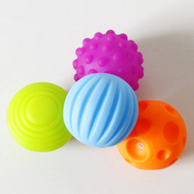 4Pcs/6Pcs Set Baby Ball Toys Souding Colorful Child touch hand ball toy baby Learning Grasping soft ball Kids Gift 7cm(China)