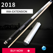 2018 New S9 Pool Cue Stick with 4.5inch Extension 13mm/11.5mm/10mm Tips Black White Gold Color Bald/Sport/Leather Made In China(China)