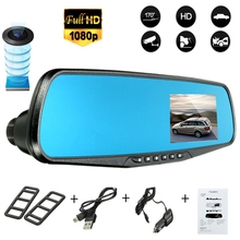 2.8 Inch 1080P Car Parking Rearview Mirror Monitor Car DVR Dash Camera Video Recorder Night Vision(China)
