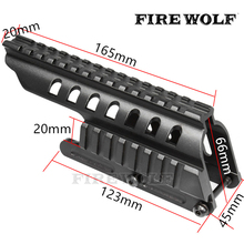 FIRE WOLF Tactical 20mm Double Picatinny 165mm Length Rail Mount System Fit For Remington 870 RM870 12 Ga. Scope(China)